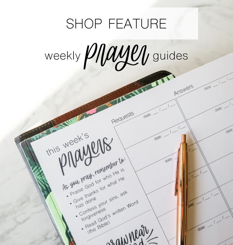 shop feature prayer guides